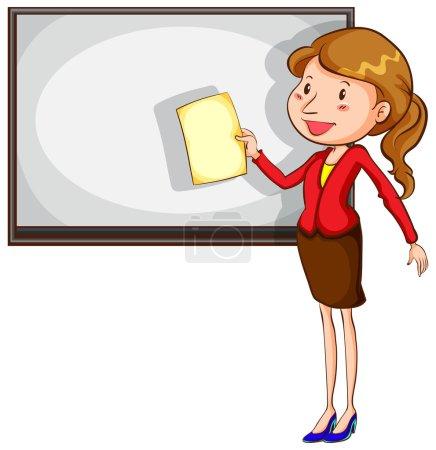 A sketch of a simple teacher