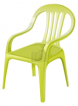 Illustration for Illustration of a plastic chair furniture on a white background - Royalty Free Image