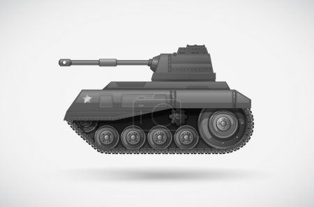 A military armoured tank