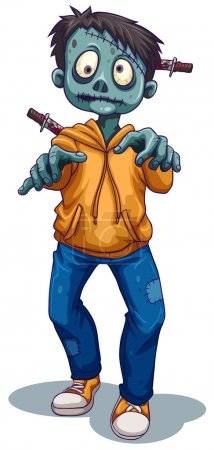A scary male zombie