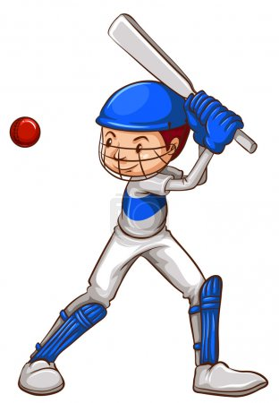 A sketch of a cricket player