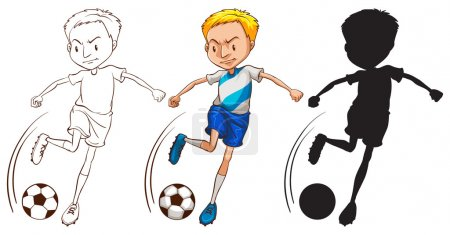 Photo pour Illustration d'un footballeur - image libre de droit