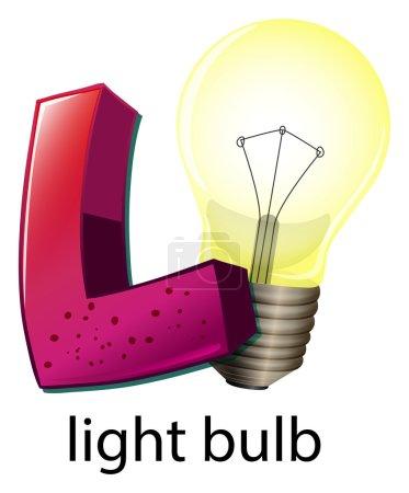A letter L for lightbulb