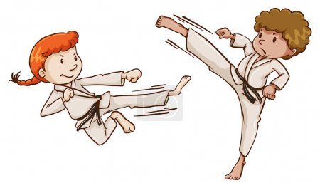 Young martial arts experts