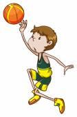 A basketball player