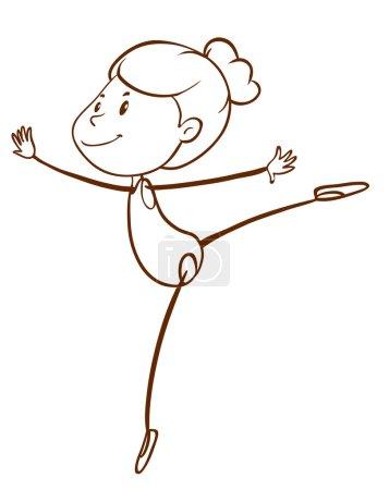 A plain sketch of a gymnast