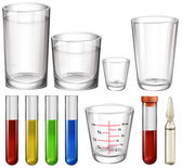 Illustration of the tubes and glasses on a white background