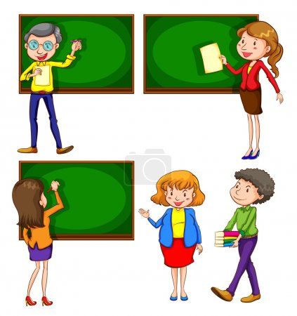 A coloured drawing of teachers
