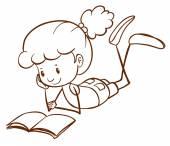 Jednoduchý náčrt mladej čtení