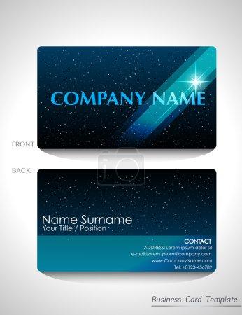 A blue business card design