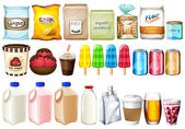 A group of foods and drinks