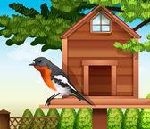 """Постер, картина, фотообои """"Птица на pethouse"""""""