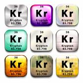 A periodic table showing Krypton