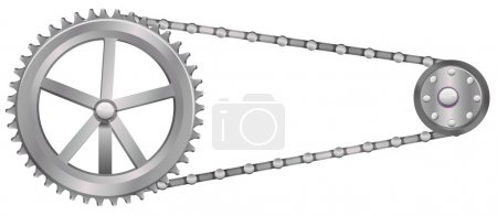 Illustration for A cogwheel on a white background - Royalty Free Image