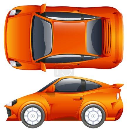 Illustration pour Un véhicule orange sur fond blanc - image libre de droit