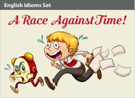 A boy racing against time