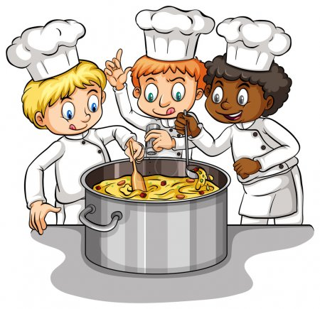A group of chefs idiom