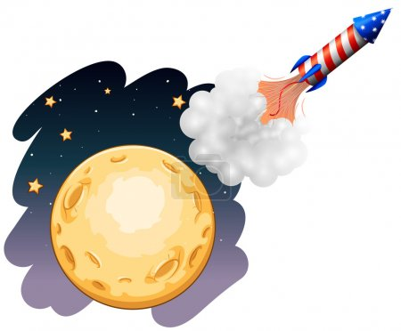 A rocket near the moon