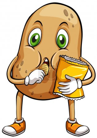 Illustration for A couch potato on a white background - Royalty Free Image