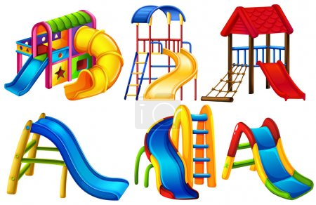 Set of colourful slides