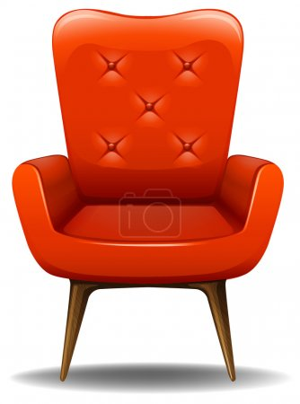 Illustration for Retro design chair with wooden legs - Royalty Free Image