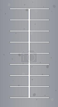 Illustration pour Vue du dessus de l'illustration du parking - image libre de droit