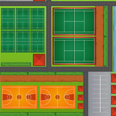 Top view of sport courts