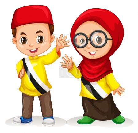 Boy and girl from Brunei