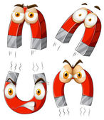Magnet with facial expressions