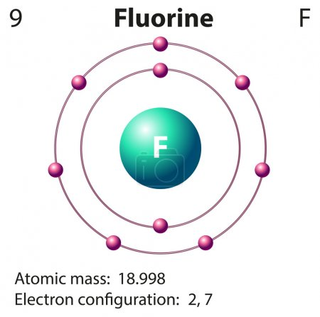 Diagram representation of the element fluorine