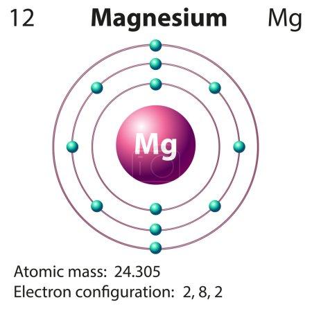 Diagram representation of the element magnesium