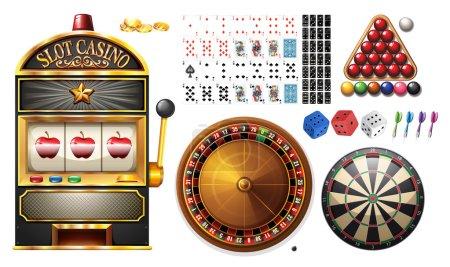 Illustration pour Machines de casino et illustration de jeux - image libre de droit