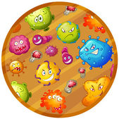 Germs in different shapes and colors