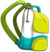 Školní v žluté a zelené barvy