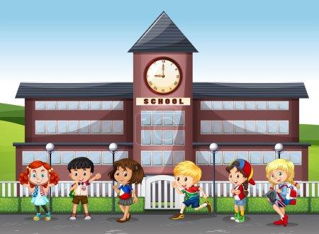International children at school