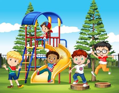 International children at the park