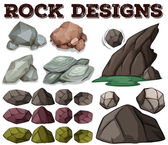 Different kind of rock designs
