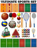 Sport equipments and courts