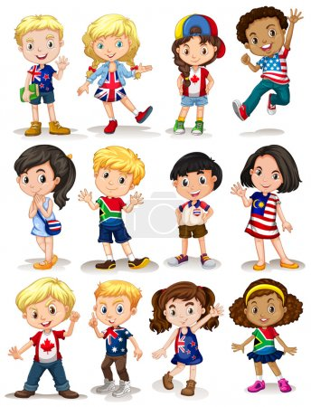 Illustration for Children from different countries illustration - Royalty Free Image