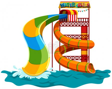 Water slide at the park