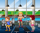 People working out in the gym