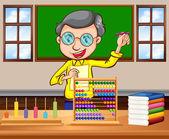 Math teacher in the classroom