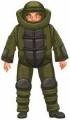 Man in EOD suit illustration