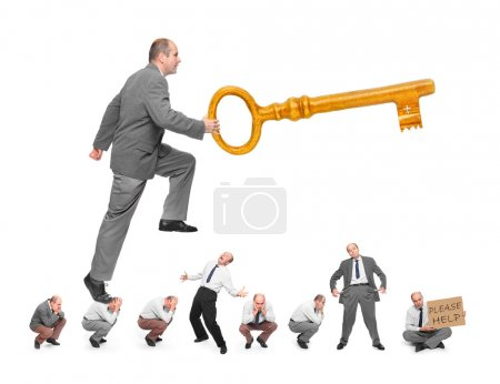 Man with key, Bribery metaphor
