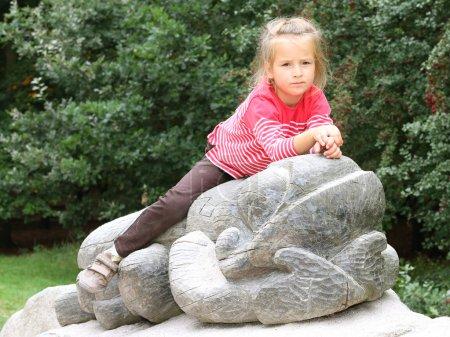 little girl at park