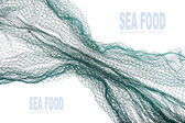 Fishing net with space for your text
