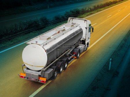 White tanker truck