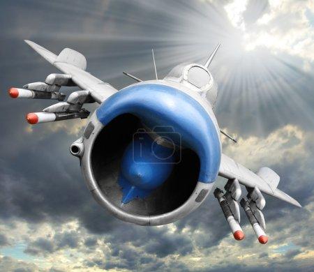 Old jet fighter plane