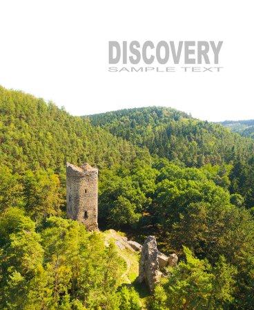 Aerial view of medieval castle Libstejn