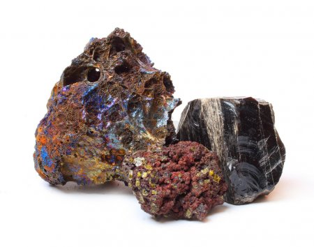 Volcanic lava with high content of different metals